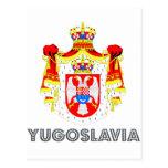 Emblema yugoslavo tarjetas postales