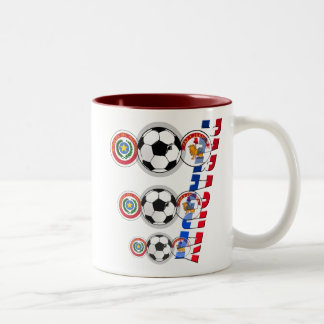 Emblemas del futbol de Paraguay y regalos del logo Tazas