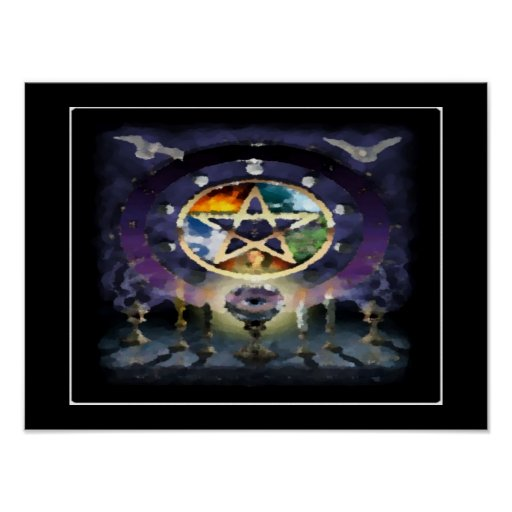Emblemas Wicca Posters