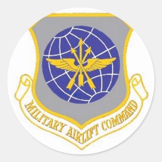Emblems Militery Classic Round Sticker