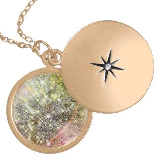 Embody the Golden Goddess Round Locket Necklace
