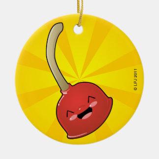 Émbolo de Polly y ornamento del TP Adorno Redondo De Cerámica