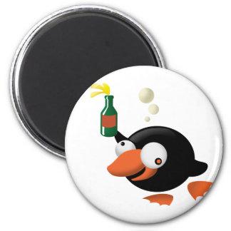 Emborrachado pingüino iman