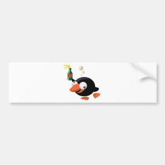 Emborrachado pingüino pegatina para auto