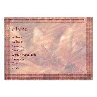 Embosed Copper Foil Lotus Leaf : Stylish Border Large Business Card