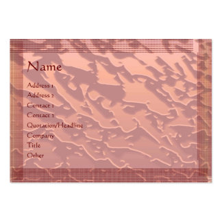 Embosed Copper Galactical Pattern : Stylish Border Large Business Card