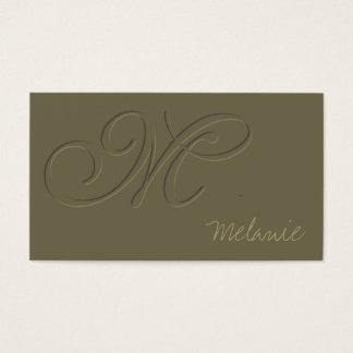 Emboss Business Card