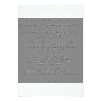 Embossed 23rd Psalm Invite