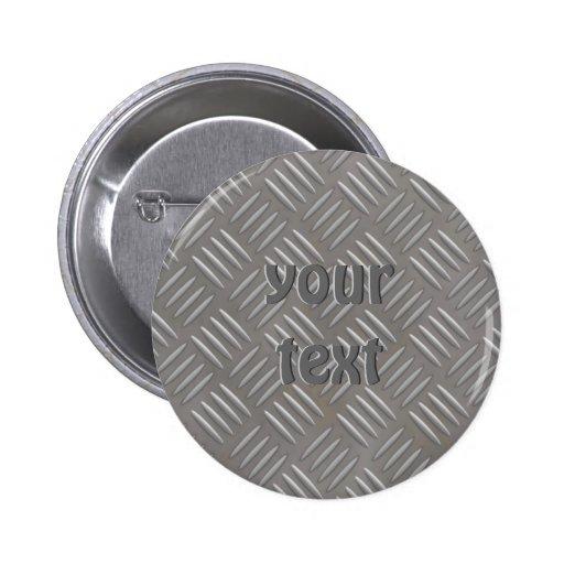Embossed Aluminum Metal Look Custom Pin