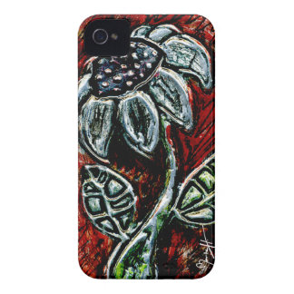 Embossed and Painted Metal Flower iPhone 4 Case