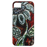 Embossed and Painted Metal Flower iPhone 5 Case
