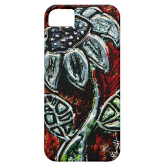 Embossed and Painted Metal Flower iPhone SE/5/5s Case