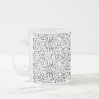 Embossed Art Frosted Glass Coffee Mug
