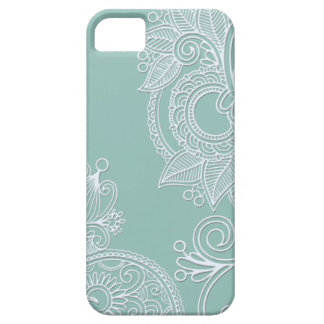 Embossed Boho Teal Paisley iPhone SE/5/5s Case