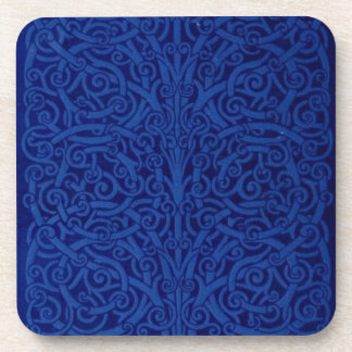 embossed book cover coaster