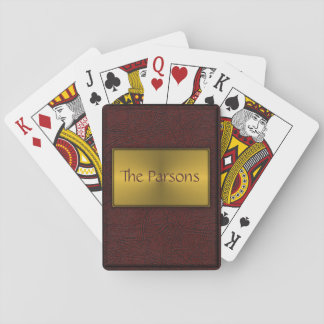 Embossed Book Cover Playing Cards