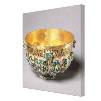 Embossed bowl set canvas print