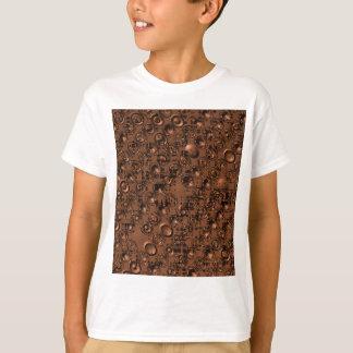 embossed brown T-Shirt