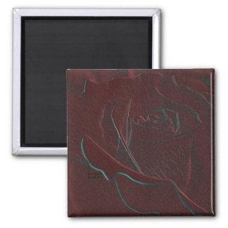 Embossed Burgundy Rose Magnet