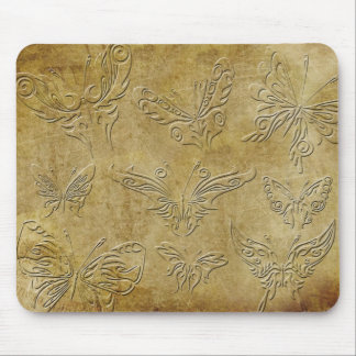 Embossed Butterflies - all unique Mouse Pads