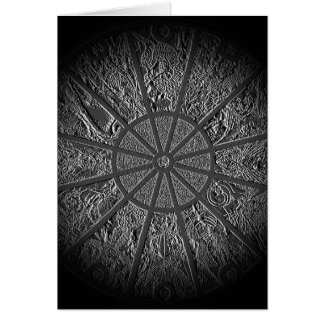 Embossed Chinese Zodiac Wheel Greeting Card