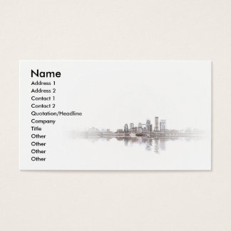 Embossed City Business Card