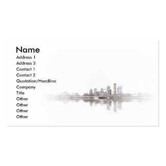Embossed City Double-Sided Standard Business Cards (Pack Of 100)