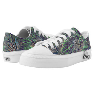 Embossed Color Floral Low-Top Sneakers
