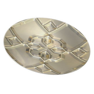Embossed Crucifix Dinner Plate