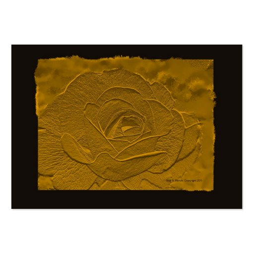 Embossed Deep Gold Rose Business Card