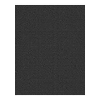 Embossed Design Plain Black Scrapbook Paper Letterhead