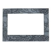 Embossed Dragon On Grey Leather print Magnetic Frame (<em>$17.85</em>)