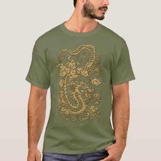 Embossed Dragon on Khaki Tshirt
