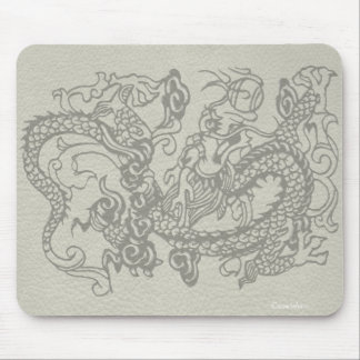 Embossed Dragon on Leather Texture Mouse Pad