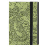 Embossed Dragon on LimeGreen Leather Texture Cases For iPad Mini (<em>$44.60</em>)