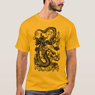 Embossed Dragon on Tangerine T shirt