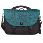 Embossed Dragon On Till Leather Texture Laptop Bags