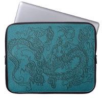 Embossed Dragon On Till Leather Texture Laptop Sleeve (<em>$40.95</em>)