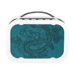 Embossed Dragon on Till Leather Texture Yubo Lunch Boxes