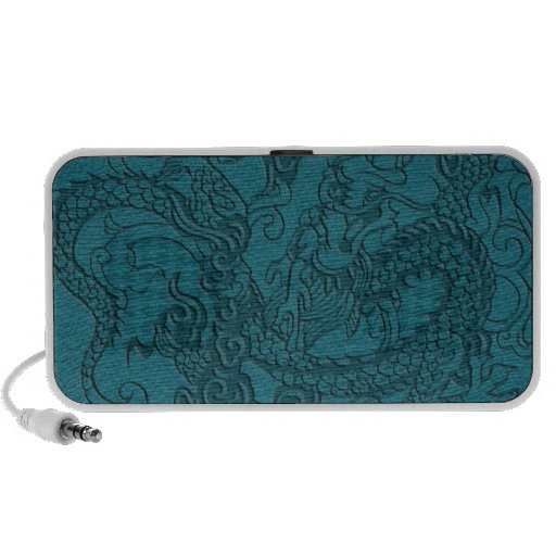 Embossed Dragon On Till Leather Texture Speaker System