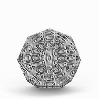Embossed Effect Silver Gray Metal Sand Flower Awards