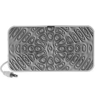 Embossed Effect Silver Gray Metal Sand Flower Mini Speaker
