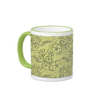 Embossed Floral Ringer Mug