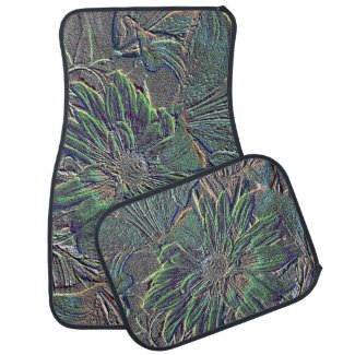 Embossed Flowers Front Floor Car Mats Floor Mat