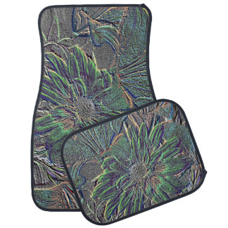 Embossed Flowers Truck and Car Mat