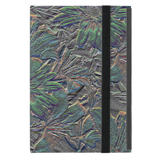Embossed Flowers with Color Cover For iPad Mini