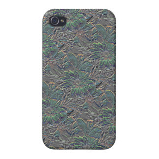 Embossed Flowers with Color iPhone 4/4S Cases