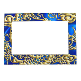 Embossed Gold Dragon Magnetic Frame