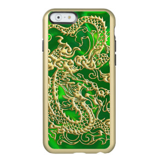 Embossed Gold Dragon on Green Satin Print Incipio Feather Shine iPhone 6 Case