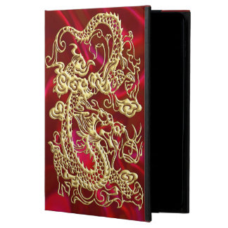 Embossed Gold Dragon on Red Satin Print Powis iPad Air 2 Case